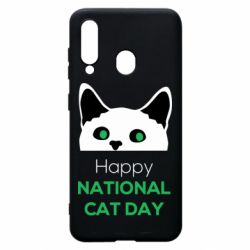 Чехол для Samsung A60 Happy National Cat Day