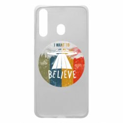 Чехол для Samsung A60 I want to believe text