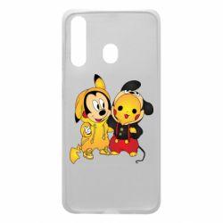 Чехол для Samsung A60 Mickey and Pikachu