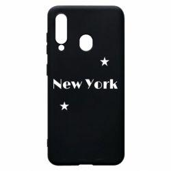 Чехол для Samsung A60 New York and stars