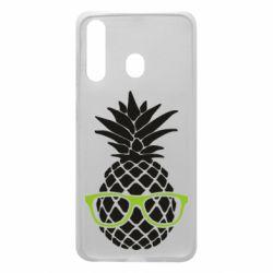 Чехол для Samsung A60 Pineapple with glasses