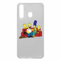 Чехол для Samsung A60 Simpsons At Home