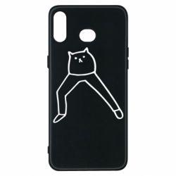 Чохол для Samsung A6s Cat in pants