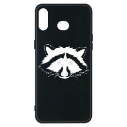 Чохол для Samsung A6s Cute raccoon face