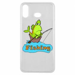 Чехол для Samsung A6s Fish Fishing