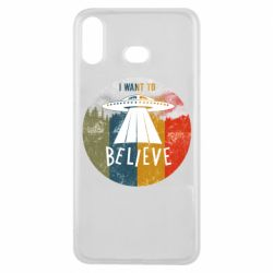 Чехол для Samsung A6s I want to believe text