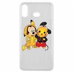 Чехол для Samsung A6s Mickey and Pikachu