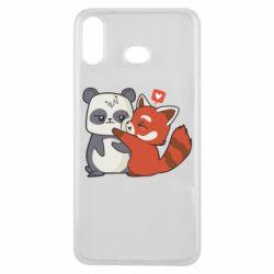 Чохол для Samsung A6s Panda and fire panda