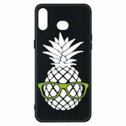 Чехол для Samsung A6s Pineapple with glasses