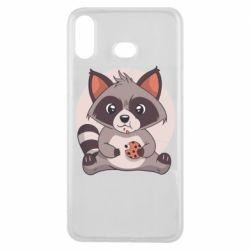 Чохол для Samsung A6s Raccoon with cookies