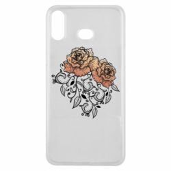 Чохол для Samsung A6s Roses with patterns