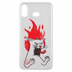 Чохол для Samsung A6s The cat is mad