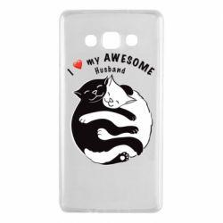 Чехол для Samsung A7 2015 Cats and love