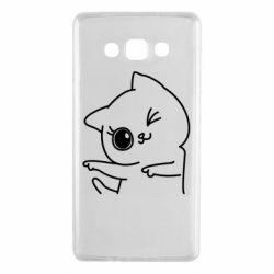 Чехол для Samsung A7 2015 Cheerful kitten