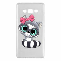 Чехол для Samsung A7 2015 Cute raccoon