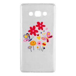 Чехол для Samsung A7 2015 Flowers and Butterflies