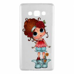 Чехол для Samsung A7 2015 Girl with big eyes