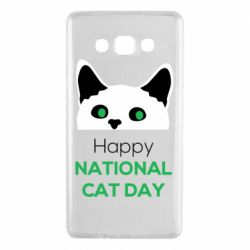 Чехол для Samsung A7 2015 Happy National Cat Day