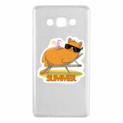 Чохол для Samsung A7 2015 Котик на пляжі