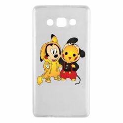 Чехол для Samsung A7 2015 Mickey and Pikachu