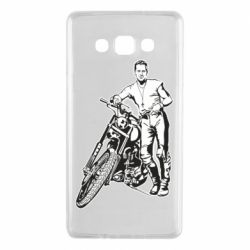 Чехол для Samsung A7 2015 Mickey Rourke and the motorcycle