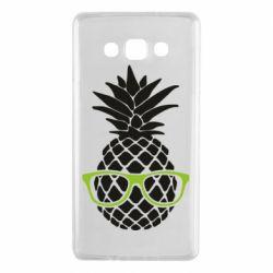 Чехол для Samsung A7 2015 Pineapple with glasses