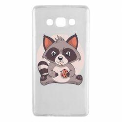 Чохол для Samsung A7 2015 Raccoon with cookies