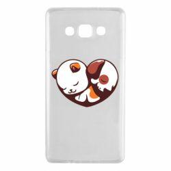 Чохол для Samsung A7 2015 Сердечко. Котик и собачка