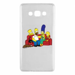 Чехол для Samsung A7 2015 Simpsons At Home