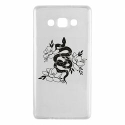 Чохол для Samsung A7 2015 Snake with flowers