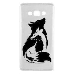 Чехол для Samsung A7 2015 Wolf And Fox