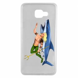 Чехол для Samsung A7 2016 Aquaman with a shark