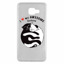 Чехол для Samsung A7 2016 Cats and love