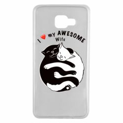 Чехол для Samsung A7 2016 Cats with a smile