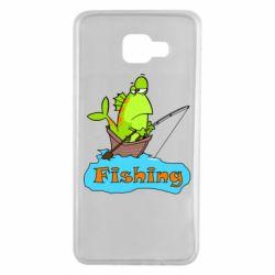 Чехол для Samsung A7 2016 Fish Fishing