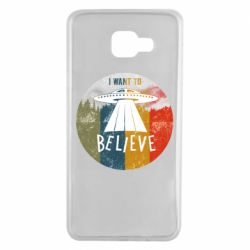 Чехол для Samsung A7 2016 I want to believe text