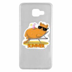 Чохол для Samsung A7 2016 Котик на пляжі