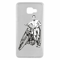 Чехол для Samsung A7 2016 Mickey Rourke and the motorcycle