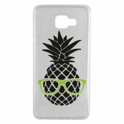 Чехол для Samsung A7 2016 Pineapple with glasses
