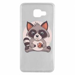 Чохол для Samsung A7 2016 Raccoon with cookies