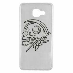 Чохол для Samsung A7 2016 Skull with scythe