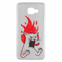 Чохол для Samsung A7 2016 The cat is mad