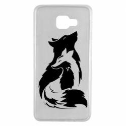 Чехол для Samsung A7 2016 Wolf And Fox