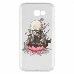 Чехол для Samsung A7 2017 A skeleton sitting on a lotus