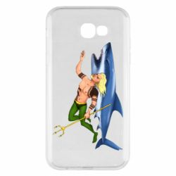 Чехол для Samsung A7 2017 Aquaman with a shark