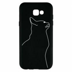 Чохол для Samsung A7 2017 Cat line
