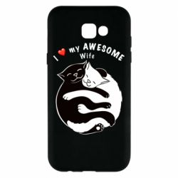 Чехол для Samsung A7 2017 Cats with a smile