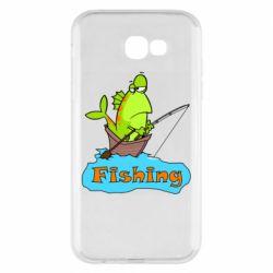 Чехол для Samsung A7 2017 Fish Fishing