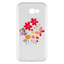 Чехол для Samsung A7 2017 Flowers and Butterflies