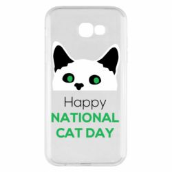 Чехол для Samsung A7 2017 Happy National Cat Day